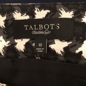 Talbots Skirts - Talbots Pencil Skirt Black White Houndstooth 10